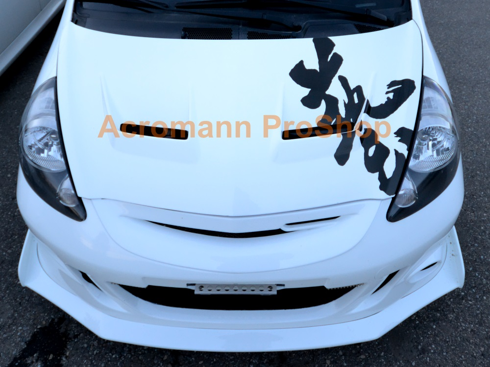 J's Racing Waza Kanji Lettering Bonnet Decal x 1 pc