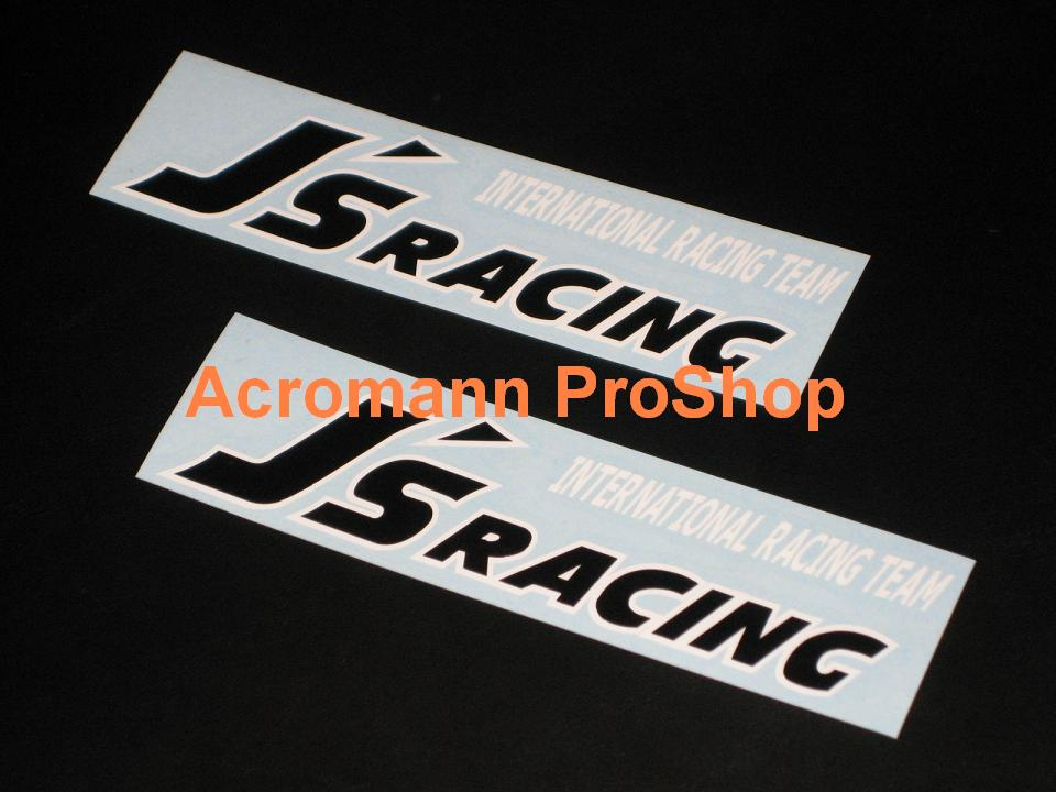 J's Racing 6inch Decal (Style#3) x 2 pcs