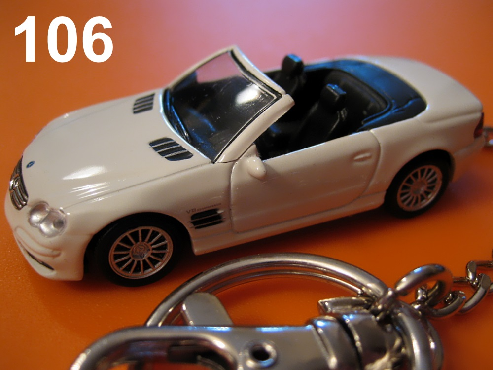 Mercedes-Benz SL55 AMG (White) Die-cast Key Chain