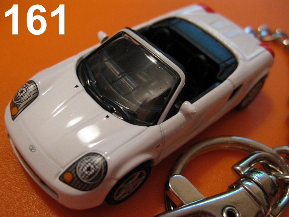 Toyota MR-S Convertible (White) Die-cast Key Chain