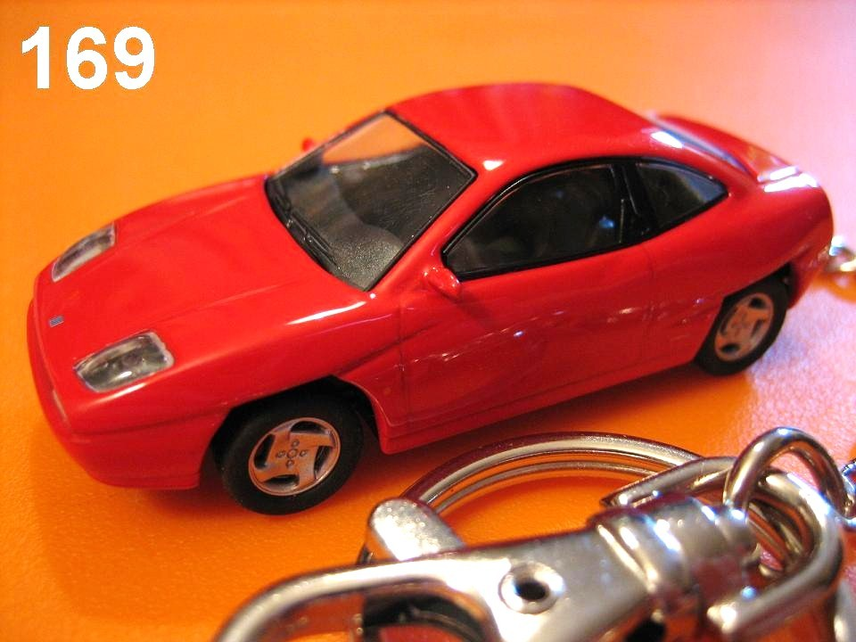Fiat Coupe (Red) Die-cast Key Chain
