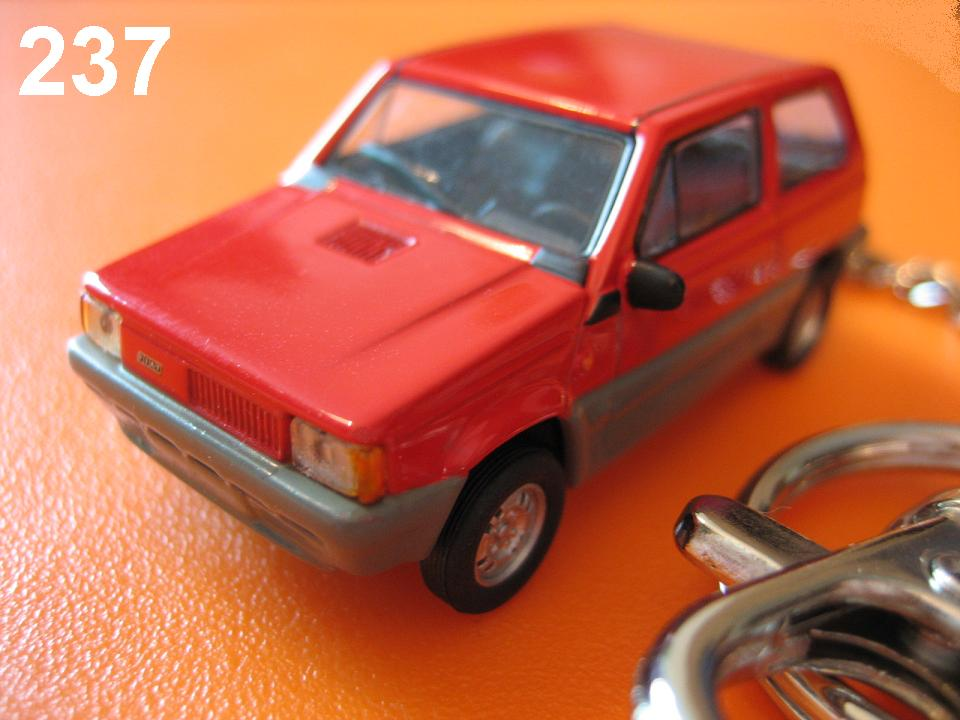 Fiat Panda 45 (Red) Die-cast Key Chain