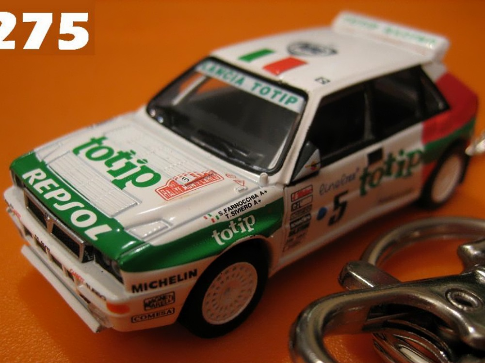 Lancia Super Delta '93 Monte Carlo (White) Die-cast Key Chain