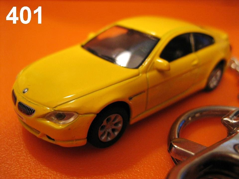 BMW 645Ci Coupe (Yellow) Die-cast Key Chain