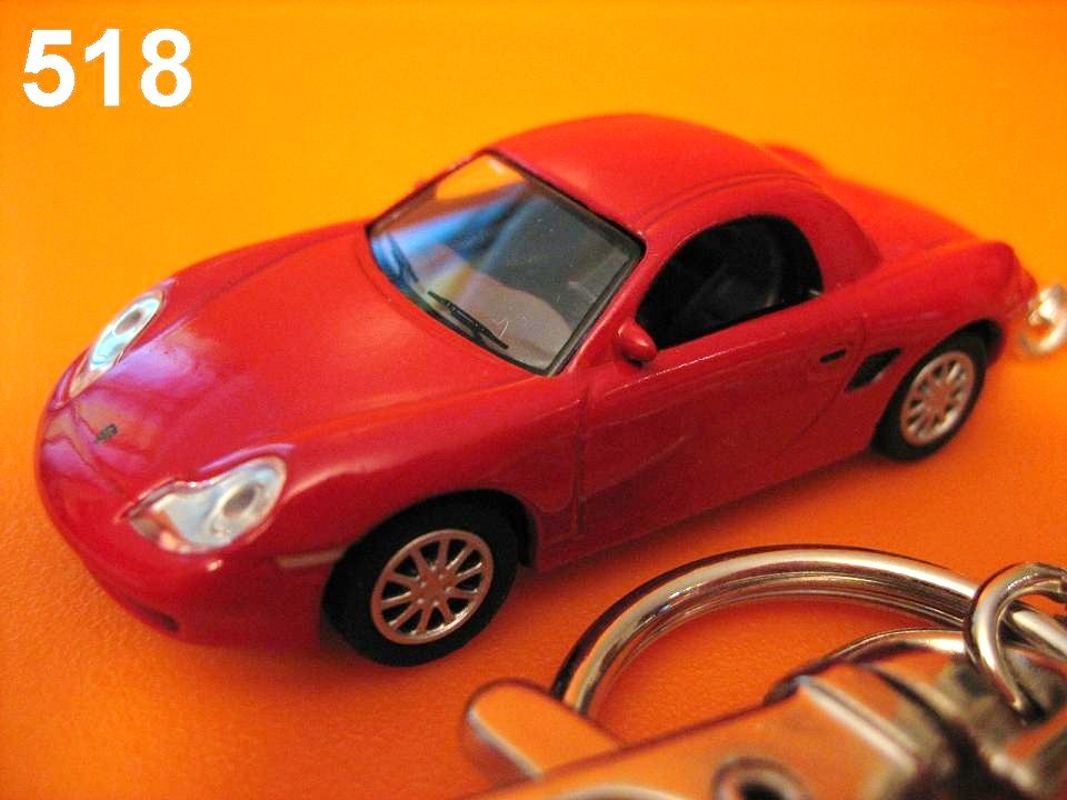 Porsche Boxster S Hard Top Roadster (Red) Die-cast Key Chain