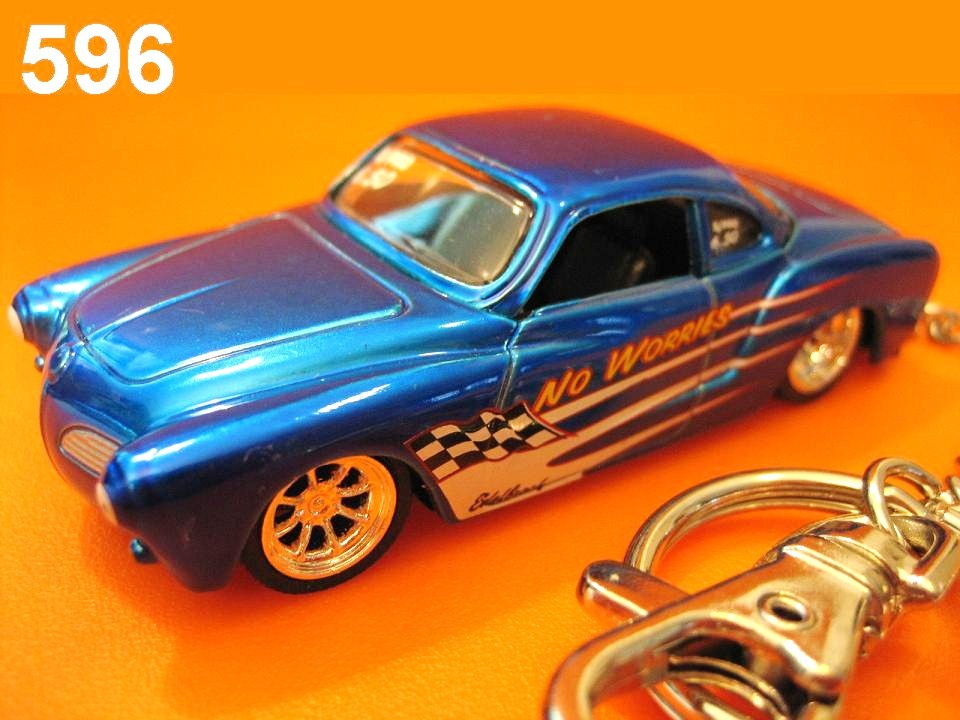 Karmann Ghia Drag Car (Blue) Die-cast Key Chain