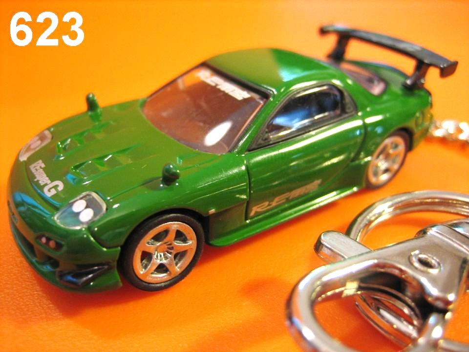 Mazda RX-7 FD3S RE Amemiya (Green) Die-cast Key Chain