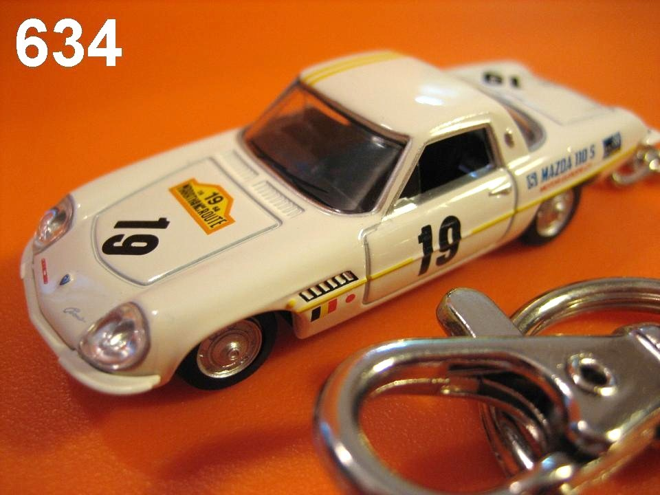 Classic Mazda Cosmo Sport L10B Rally (White) Die-cast Key Chain