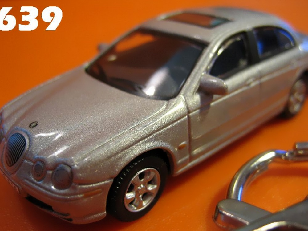 Jaguar S-Type (Silver) Die-cast Key Chain
