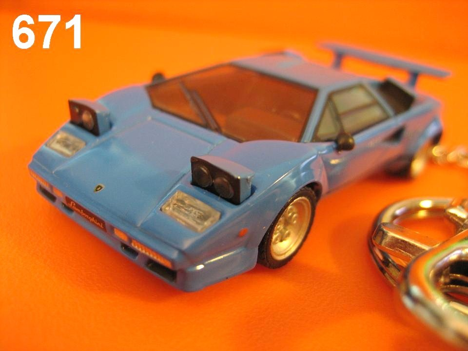 Lamborghini Countach LP500S (Blue) Die-cast Key Chain