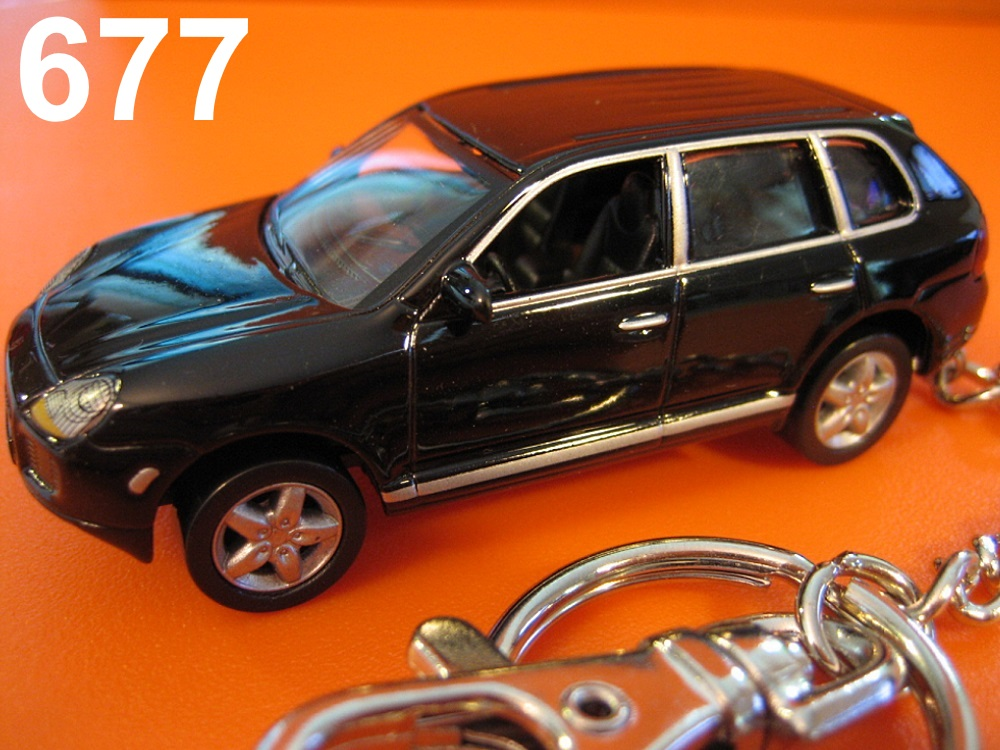 Porsche Cayenne Turbo (Black) Die-cast Key Chain