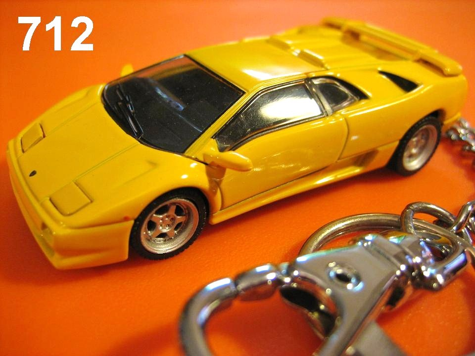 Lamborghini Diablo SV (Yellow) Die-cast Key Chain