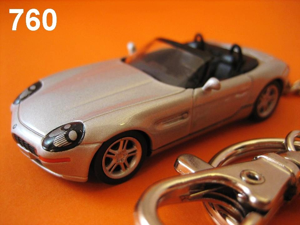 BMW Z8 Roadster (Silver) Die-cast Key Chain