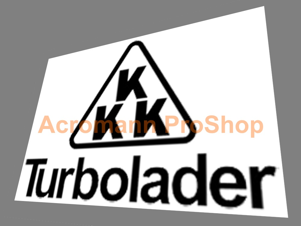 KKK turbolader 6inch Decal (Style#3) x 2 pcs