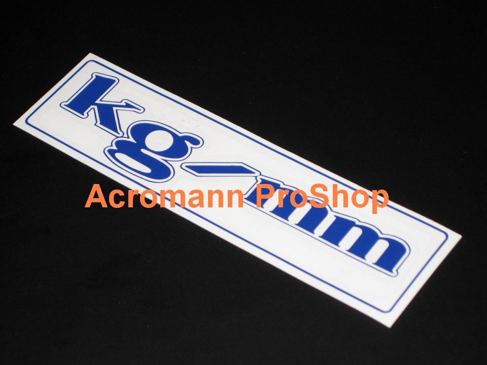kg/mm 6inch Decal x 2 pcs