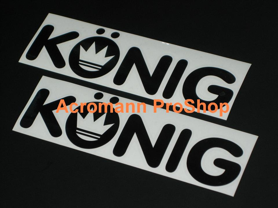 KONIG 6inch Decal x 2 pcs