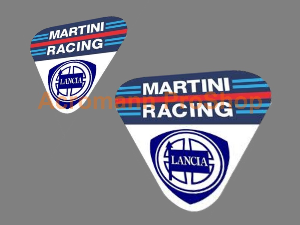 Lancia Martini Racing 3inch Decal (Style#1) x 2 pc