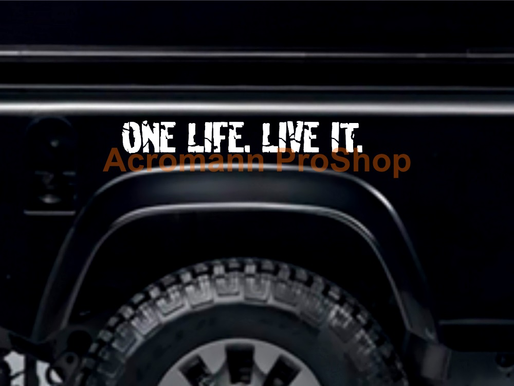 Land Rover ONE LIFE. LIVE IT. Windshield Decal (Style#3)