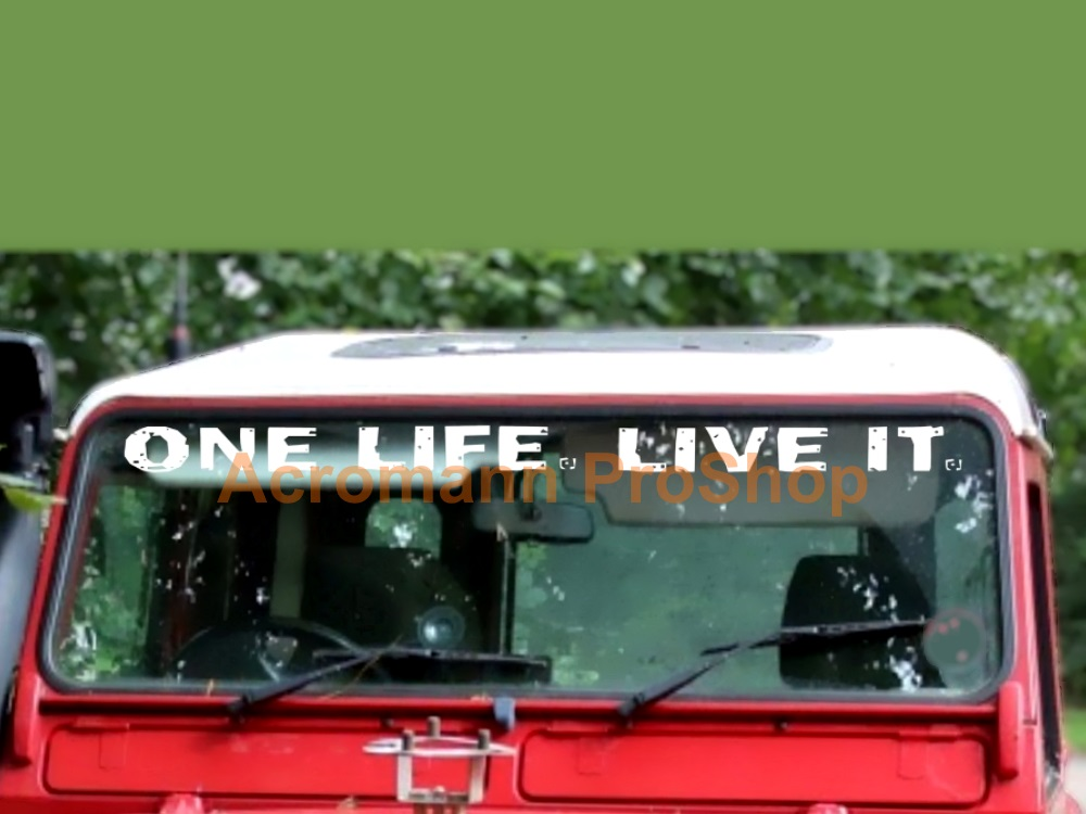 Land Rover ONE LIFE. LIVE IT. Windshield Decal (Style#1)