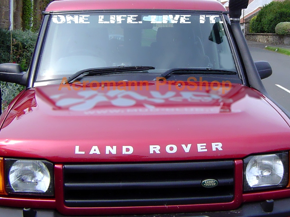 Land Rover ONE LIFE. LIVE IT. Windshield Decal (Style#2)