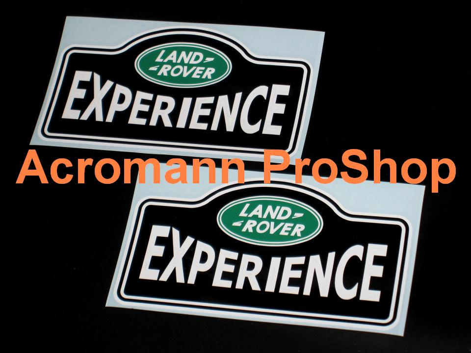 Land Rover EXPERIENCE 6inch Decal x 2 pcs