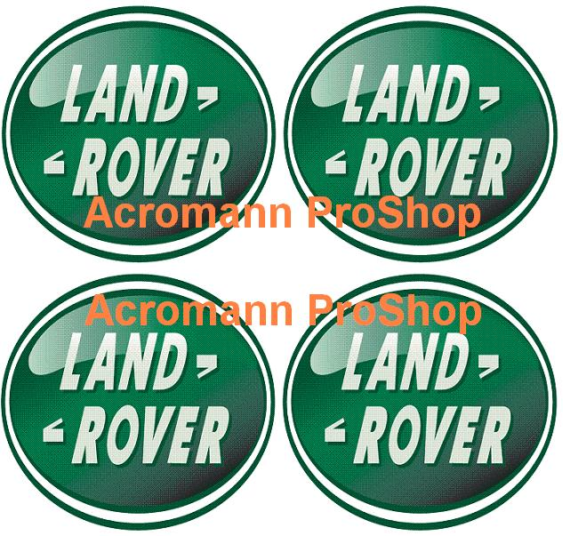 Land Rover 2.2inch Wheel Cap Decal (Style#2) x 4 pcs