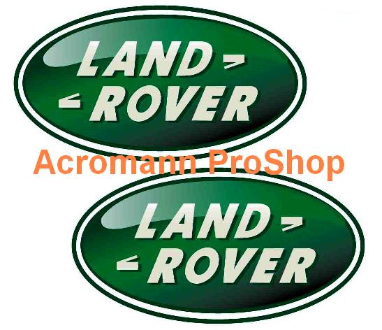 Land Rover Oval Logo 4inch Decal (Style#1) x 2 pcs