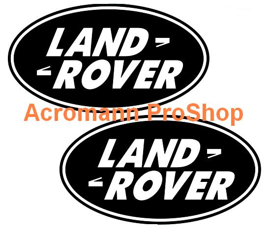 Land Rover Oval Logo 4inch Decal (Style#2) x 2 pcs