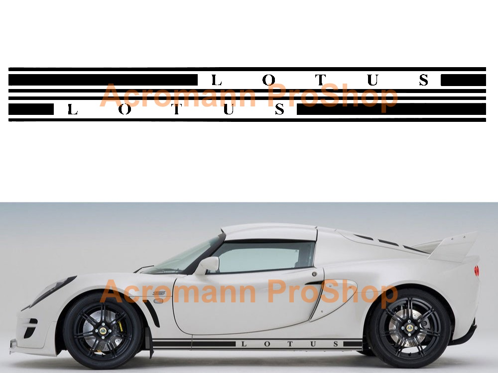 Lotus Exige Side Stripe Door Decal (Style#1) x 1 pair (LHS&RHS)