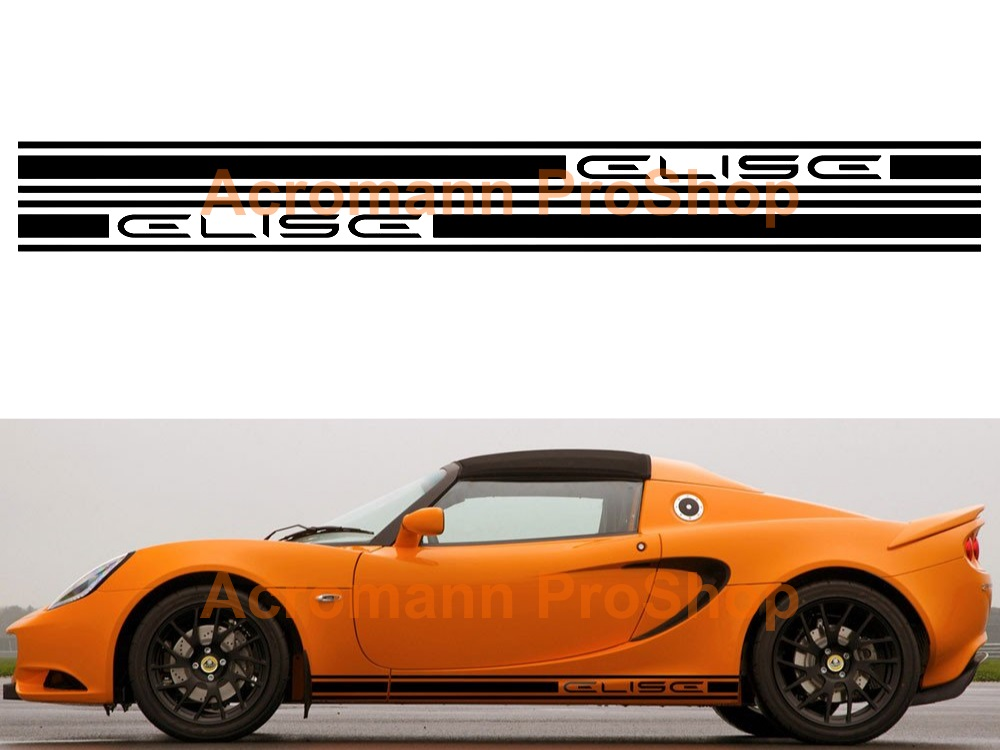 Lotus Elise Side Stripe Door Decal (Style#1) x 1 pair (LHS&RHS)