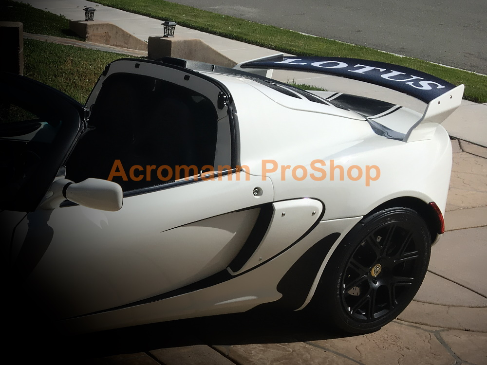 Lotus Exige S S2 240 260 Rear Wing Spoiler Decal Sticker -Curved
