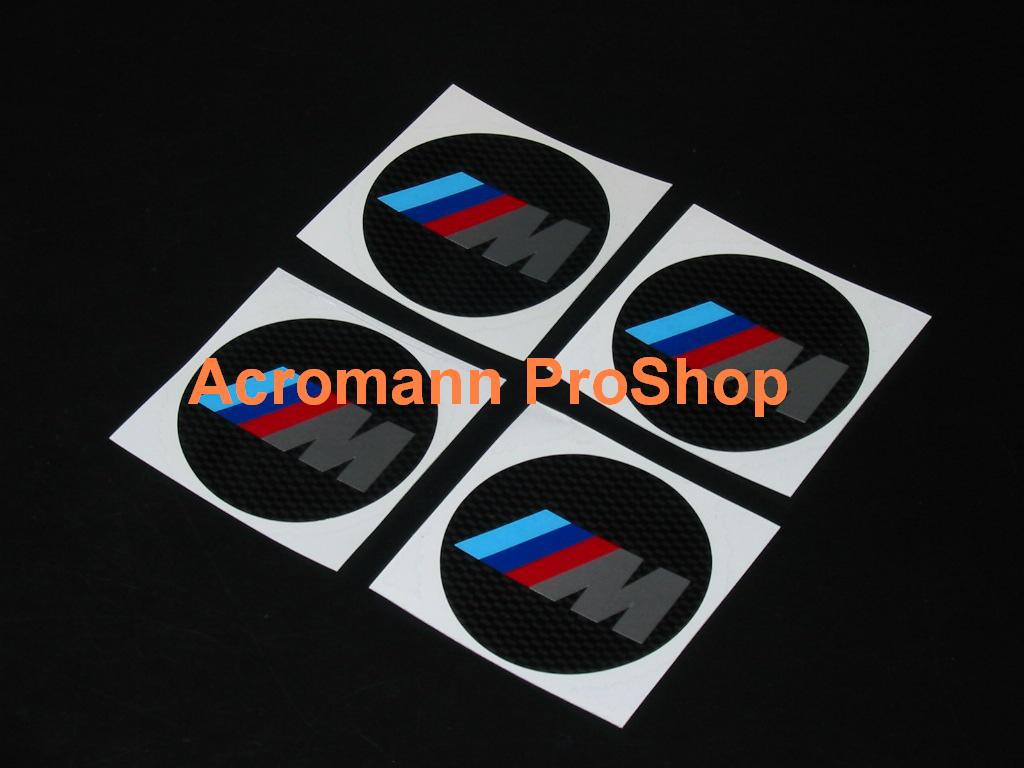BMW M Power 2.2inch Wheel Cap Decal (Style#1) x 4 pcs