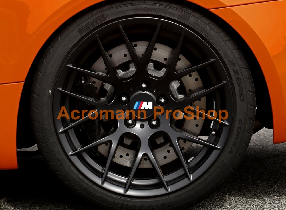BMW M Power Printed 2.2inch Wheel Cap Decal x 4 pcs