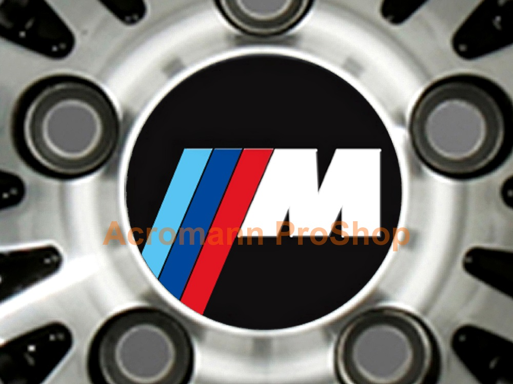 BMW M Power 2.2inch Wheel Cap Decal (Style#2) x 4 pcs