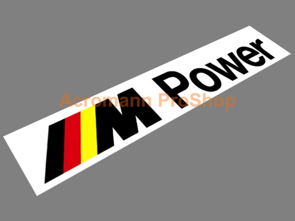 M Power Windshield Decal (Style#9)
