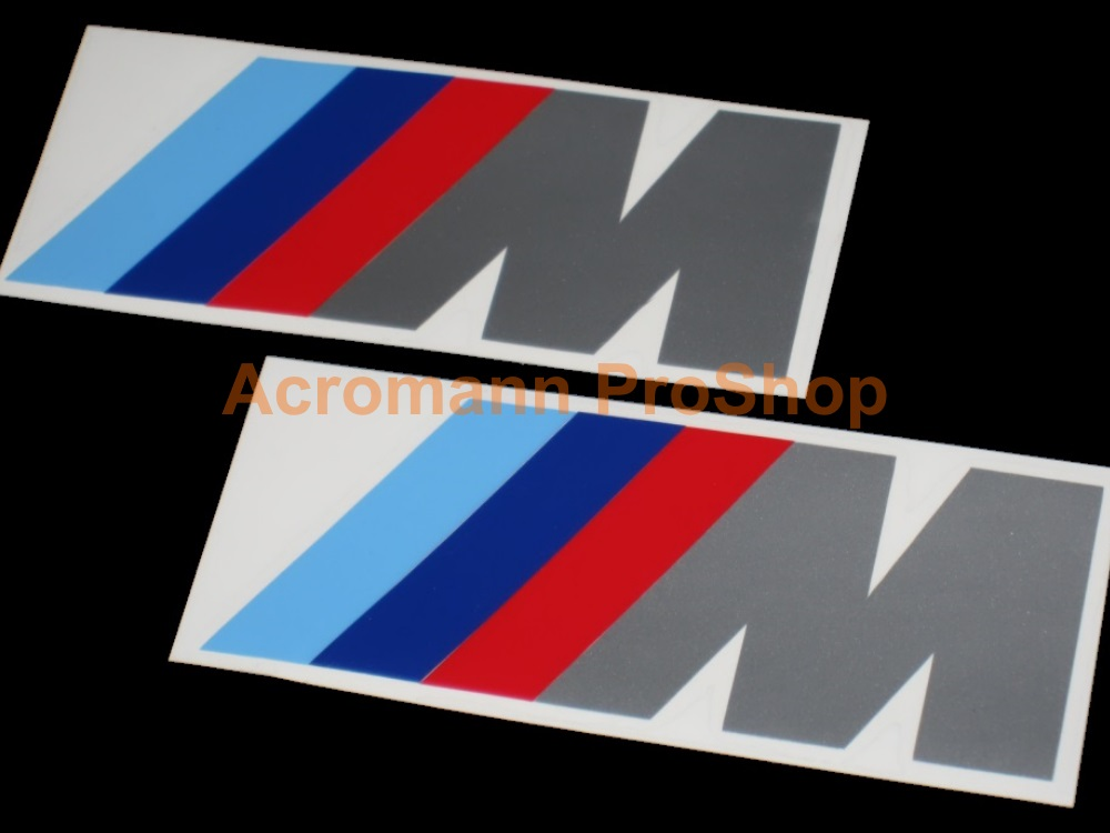 BMW M (power) logo Side Door Decal (Style#1) x 1pair (LHS & RHS)