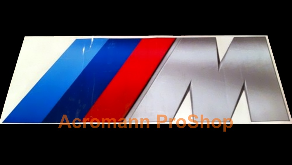 BMW M (power) logo Side Door Decal (Style#2) x 1pair (LHS & RHS)