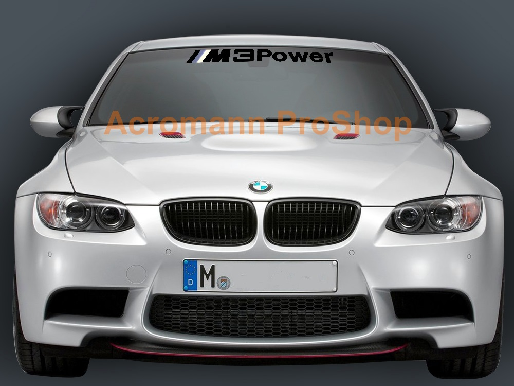 M3 Power Windshield Decal (Style#2)