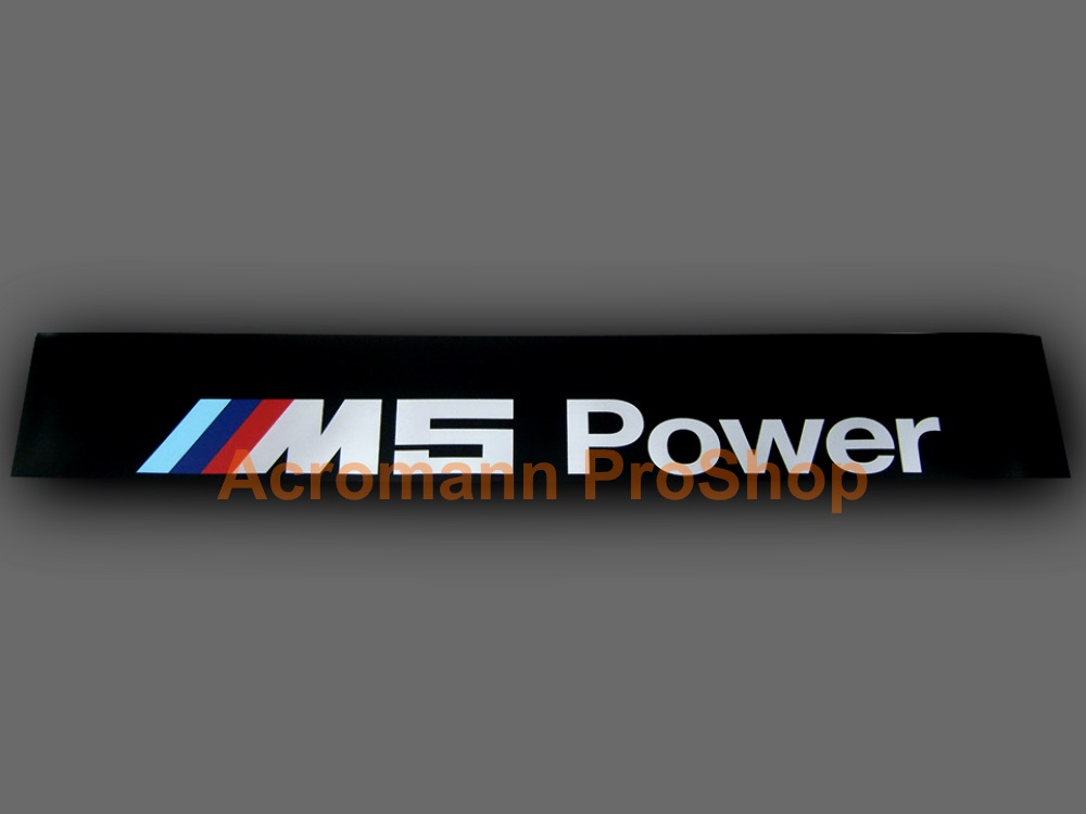 M5 Power Windshield Decal (Style#2)