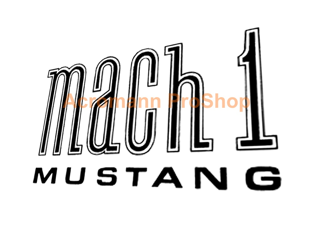 Mach 1 Mustang 6inch Decal x 2 pcs