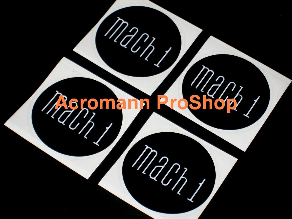 Mach 1 2.2inch Wheel Cap Decal x 4 pcs (Style#1)