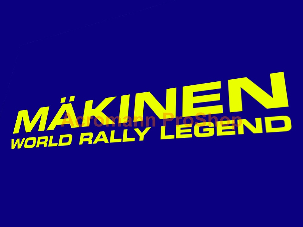 SWRT Makinen World Rally Legend 6inch Decal x 2 pcs