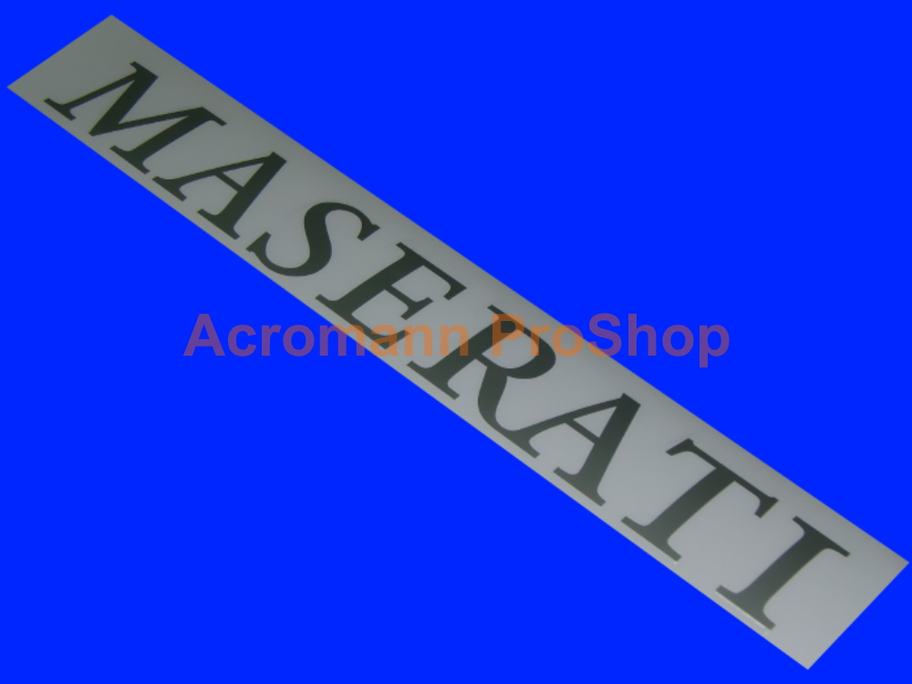 Maserati GT MC Trofeo GT3 GT4 Rear Wing Spoiler Decal Sticker