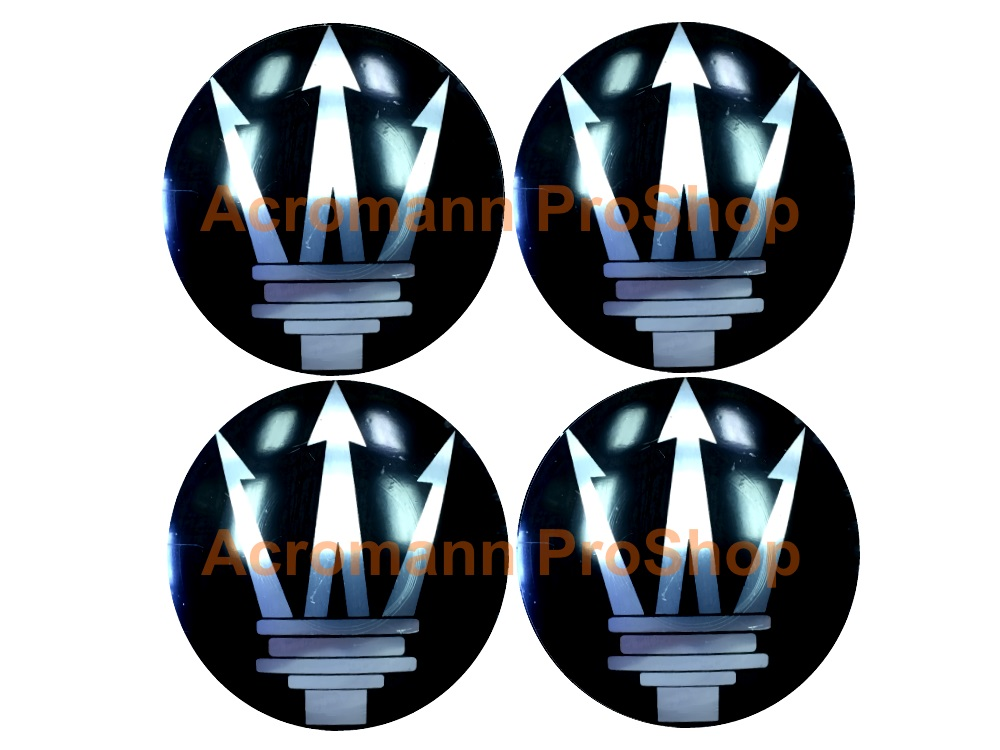 Maserati 2.2inch Wheel Cap Decal (Style#2) x 4 pcs