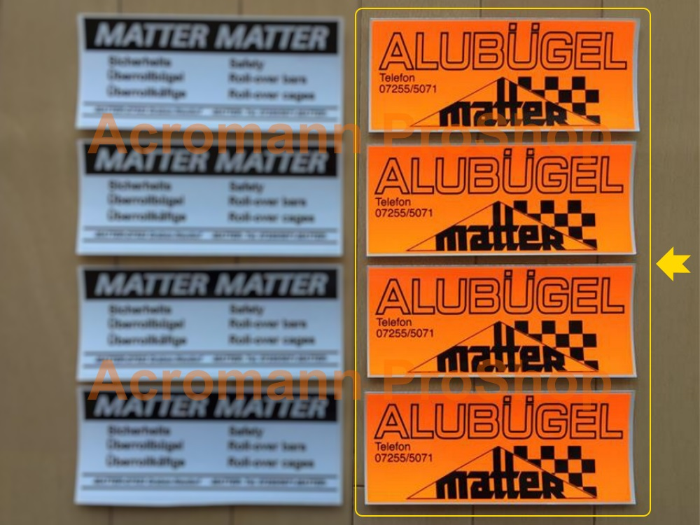 Matter Roll Cage Bar 6inch Decal (Style#2) x 4 pcs