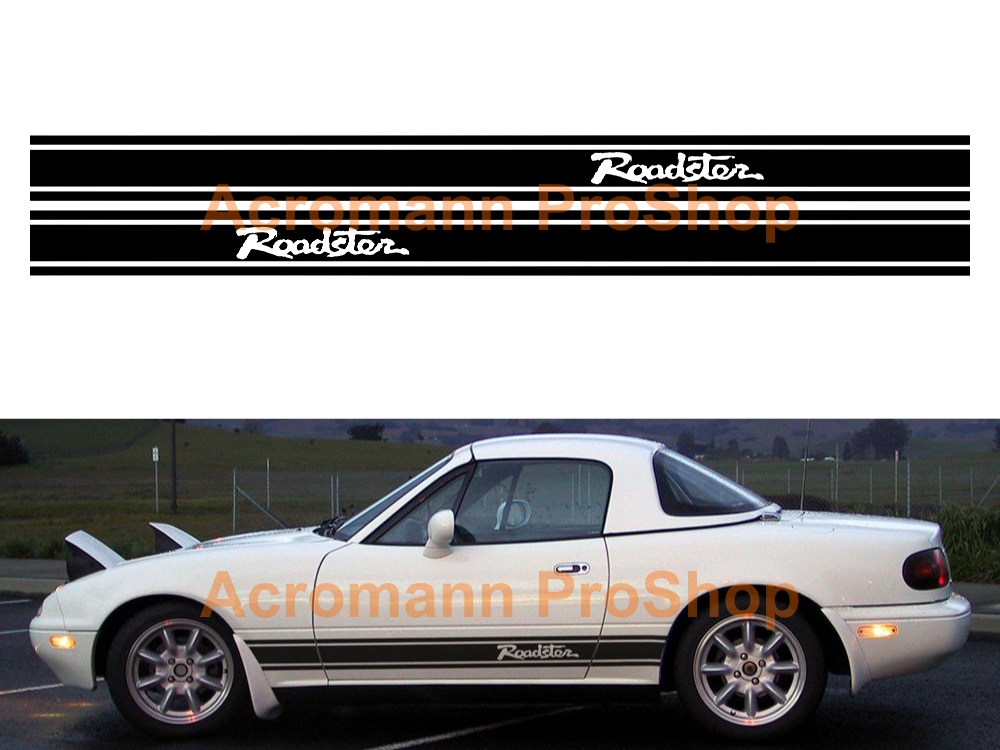 Mazda MX-5 Miata Roadster Side Stripe Door Decal (Style#10) pair