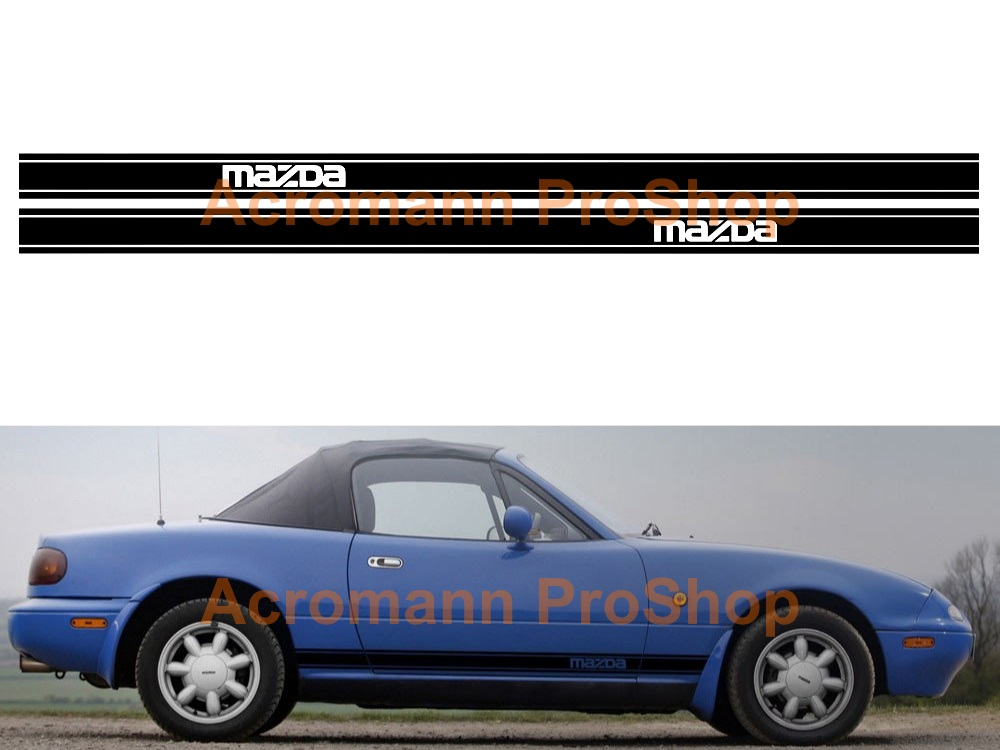 Mazda MX-5 Miata Side Stripe Door Decal (Style#11) x 1 pair