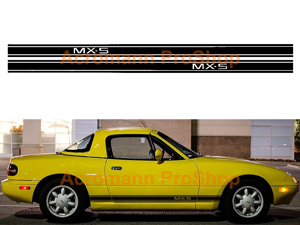 Mazda MX-5 Miata Side Stripe Door Decal (Style#14) x 1 pair