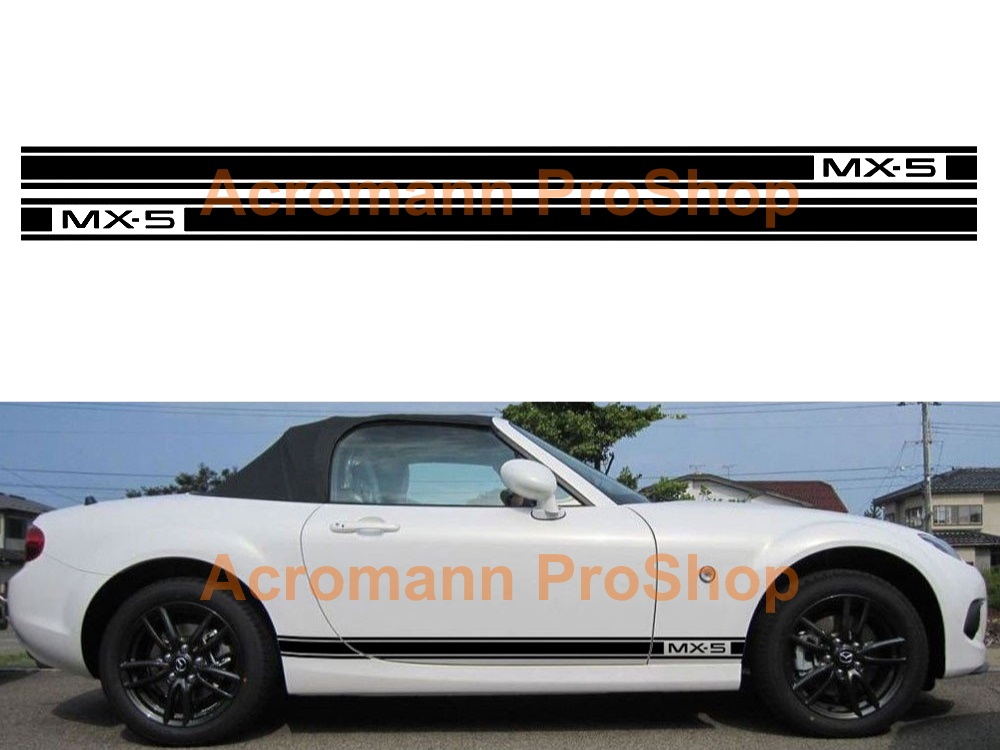 Mazda MX-5 Miata Side Stripe Door Decal (Style#16) x 1 pair