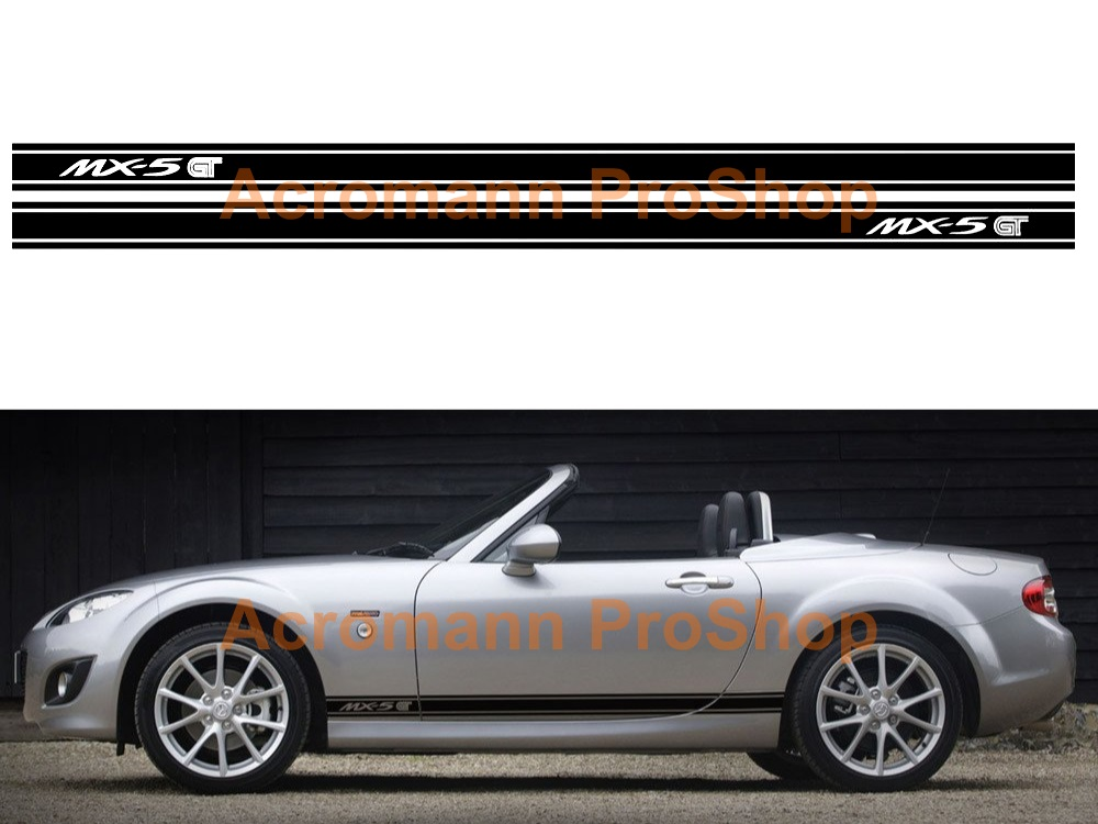 Mazda MX-5 GT Miata Side Stripe Door Decal (Style#17) x 1 pair